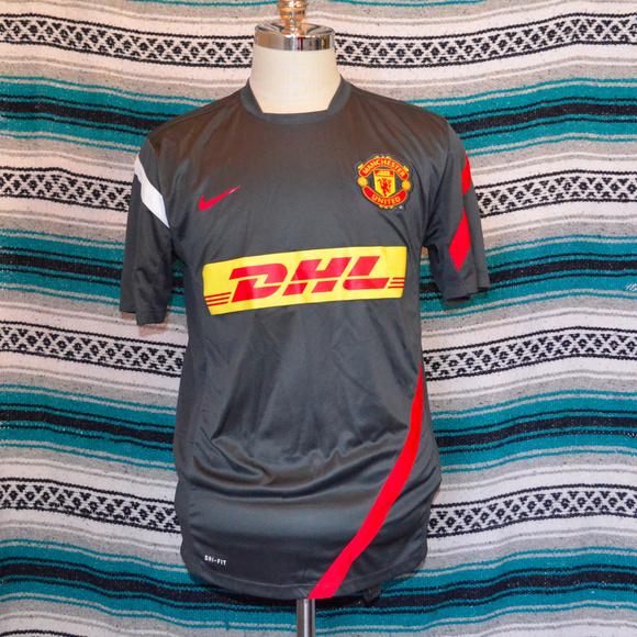 buy popular 8d545 c45d3 Nike Manchester United DHL Soccer jersey Large